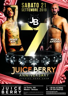 21 SETTEMBRE 2019: 7° COMPLEANNO JUICE BERRY